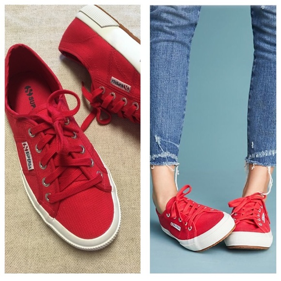 2f581432551b Superga Core Classic Sneakers Red Trainers size 7.  M 5b2982eadf03078316b1d29a